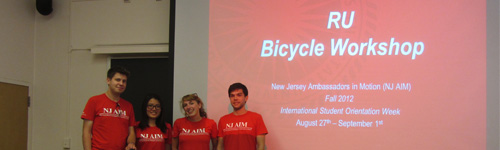 NJAIM Hosts Bicycle Workshop for International Students