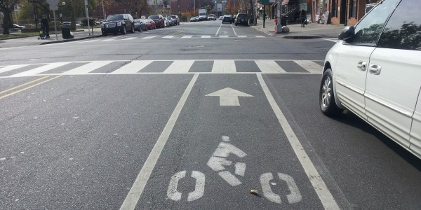 Bicycle Lane in Jersey City, NJ