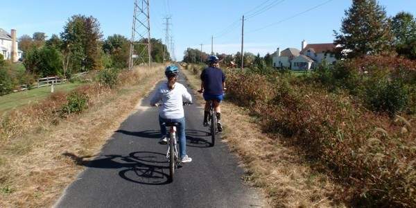 Bicyclists in West Windsor, NJ