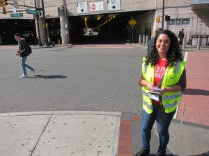 Ambassador in Newark, NJ helping with the Street Smart Campaign.