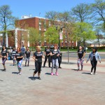 A dance class in the center of the Rutgers College Avenue campus