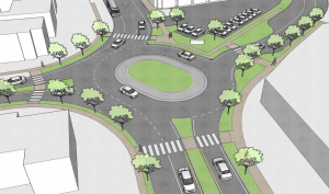 Proposed treatment for the intersection of Millburn, Essex, and Parkview (Courtesy of Arterial, LLC)