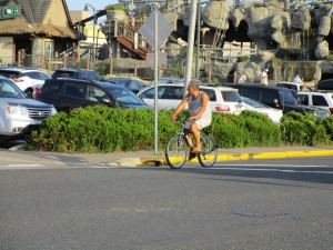 Bicyclists should be especially careful when bicycling through intersections