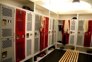 Lockers at the SRAM office in Chicago. Photo Credit: Bisnow.com