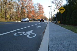 Brand new sidewalks and bicycle lanes in Cherry Hill