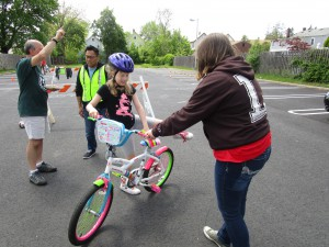 Ambassadors assisting at the Milltown Bike Rodeo