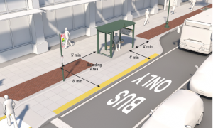 Suggested treatment for a bus stop.