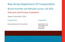New Jersey Bicycle Activities </br> and Attitudes Survey </br> (2016)