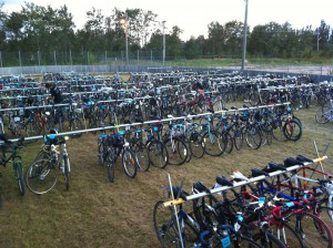 Picture of a bicycle valet. Source: bikewinnipeg.ca