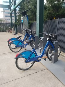 In Hoboken, CitiBike stations, such as this own pictured in Jersey City, will be installed where JerseyBike stations used to be,