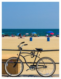 A bicycle on the boardwalk. Source: Asbury Park Plan for Walk and Biking 2019