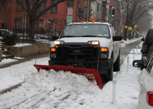 Like any travel lane, bicycle lanes should be cleared in the winter. Photo Source: Washington DC DOT