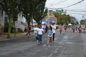 Women walking at the New Brunswick Ciclovia