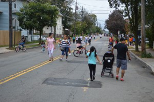 Walking during the New Brunswick Ciclovia