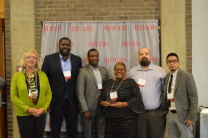 The delegation from the City of Newark with their Excellence Award.