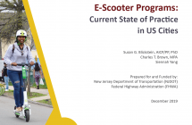 E-Scooter Programs </br> Current State of Practice in US Cities (2019)