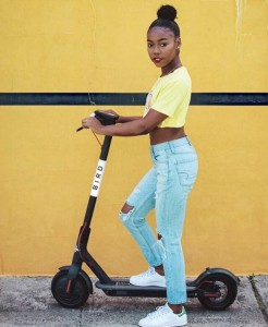 Promotional photo from Bird, an e-scooter rental company
