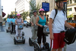 Segways are popular among tourists and police departments, and are legal under their own set of laws. Source: Flickr user Alan Kotok