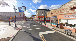 Seen under construction in 2019, the Hackensack Main Street Streetscape project was made possible with a $1 million TAP grant.